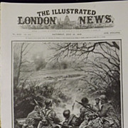 WWI -A French Machine-Gun Post In Action - Illustrated London News 1918