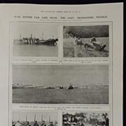WWI - War Scenes in Murmansk & France - London Illustrated News 1918
