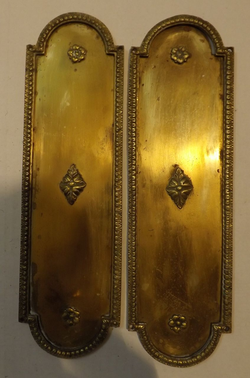 A pair of georgian door push plates from rubylane sold on for Door push plates