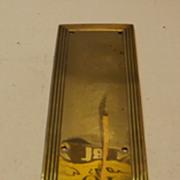 Victorian Brass Push Plate
