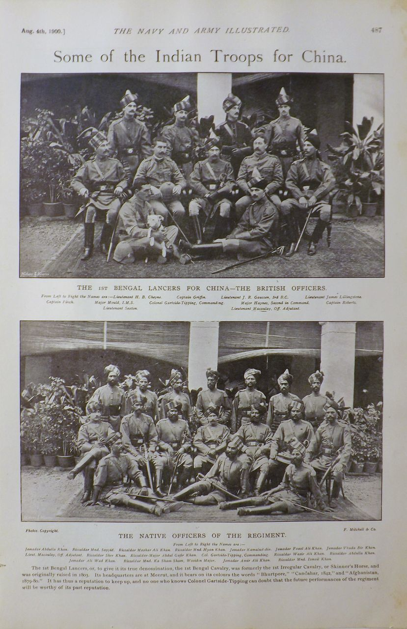 Some of The Indian Troops For China - The Navy & Army ILLUSTRATED 1900
