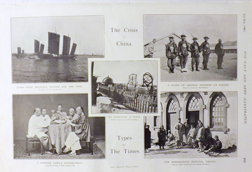 The Crisis In China -The Navy & Army Illustrated 1900