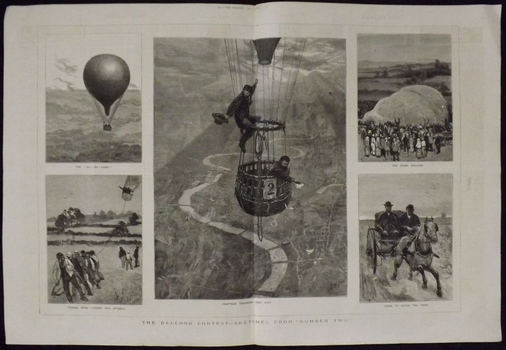 The Balloon Contest - The Graphic 1880