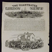 The Affray At Widow M'Cormack's House - The Illustrated London News 1848