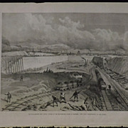 Manchester Ship Canal Works -Illustrated London News 1889