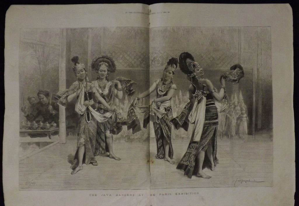 The Java Dancers At The Paris Exhibition -Illustrated London News 1889