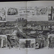 YORK -Meeting Of The British Association - Illustrated London News 1881