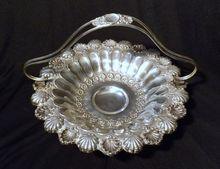 Stunning Portuguese .833 Silver Brides Basket Center Piece