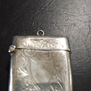 1912  Sterling Silver Vesta Holder