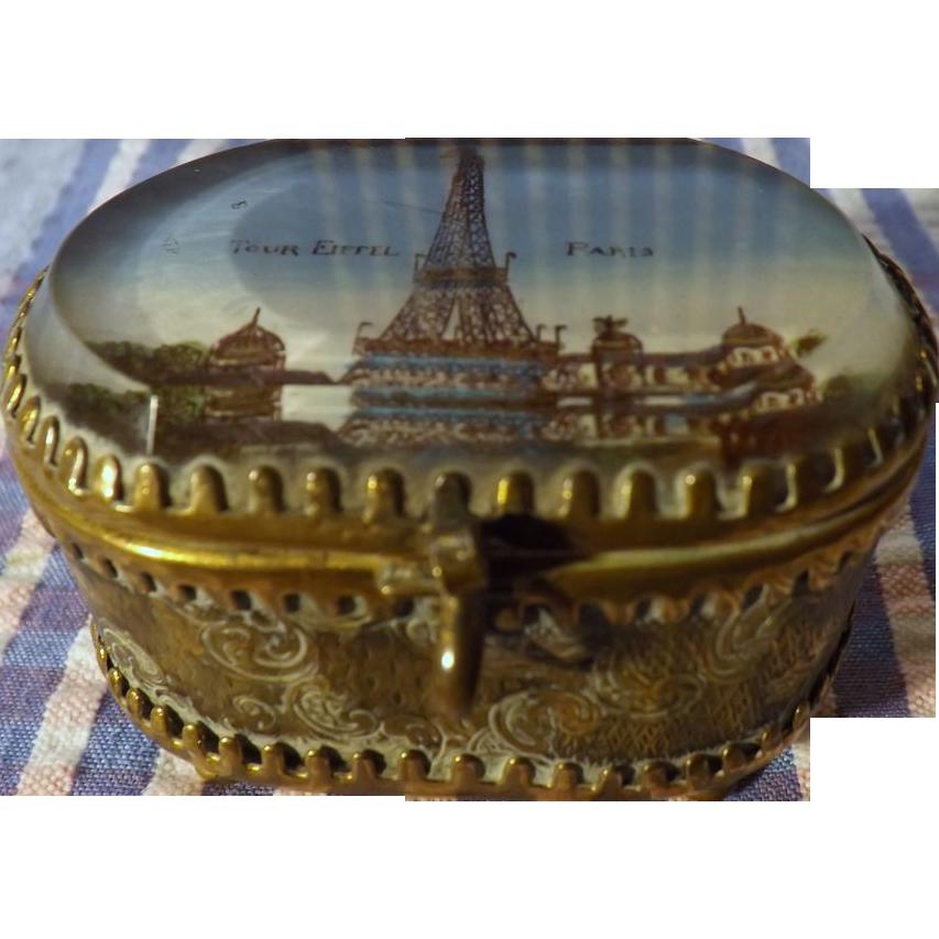 Parisian 'Tour Eiffel' Small Jewelry Casket