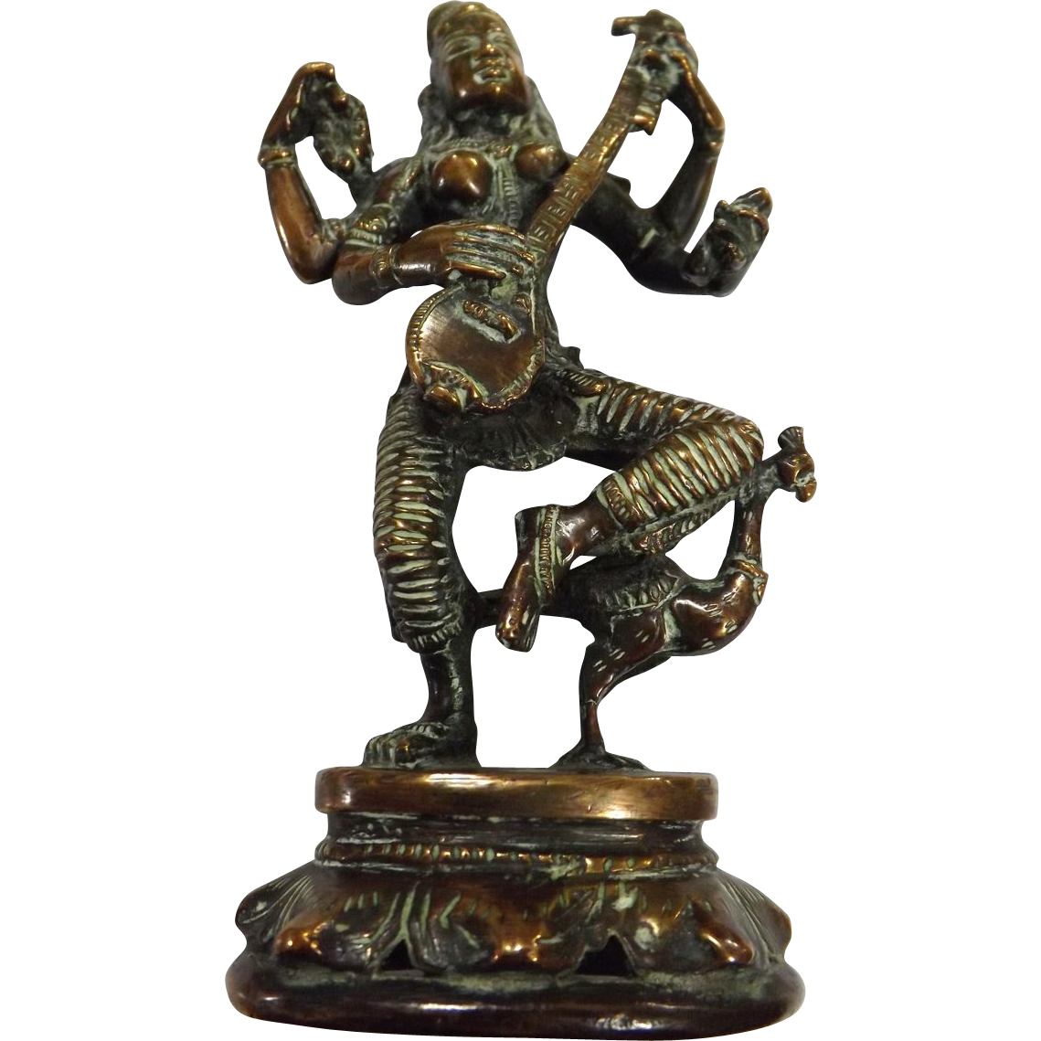 Vintage Bronze Figurine of Hindu Goddess KALI