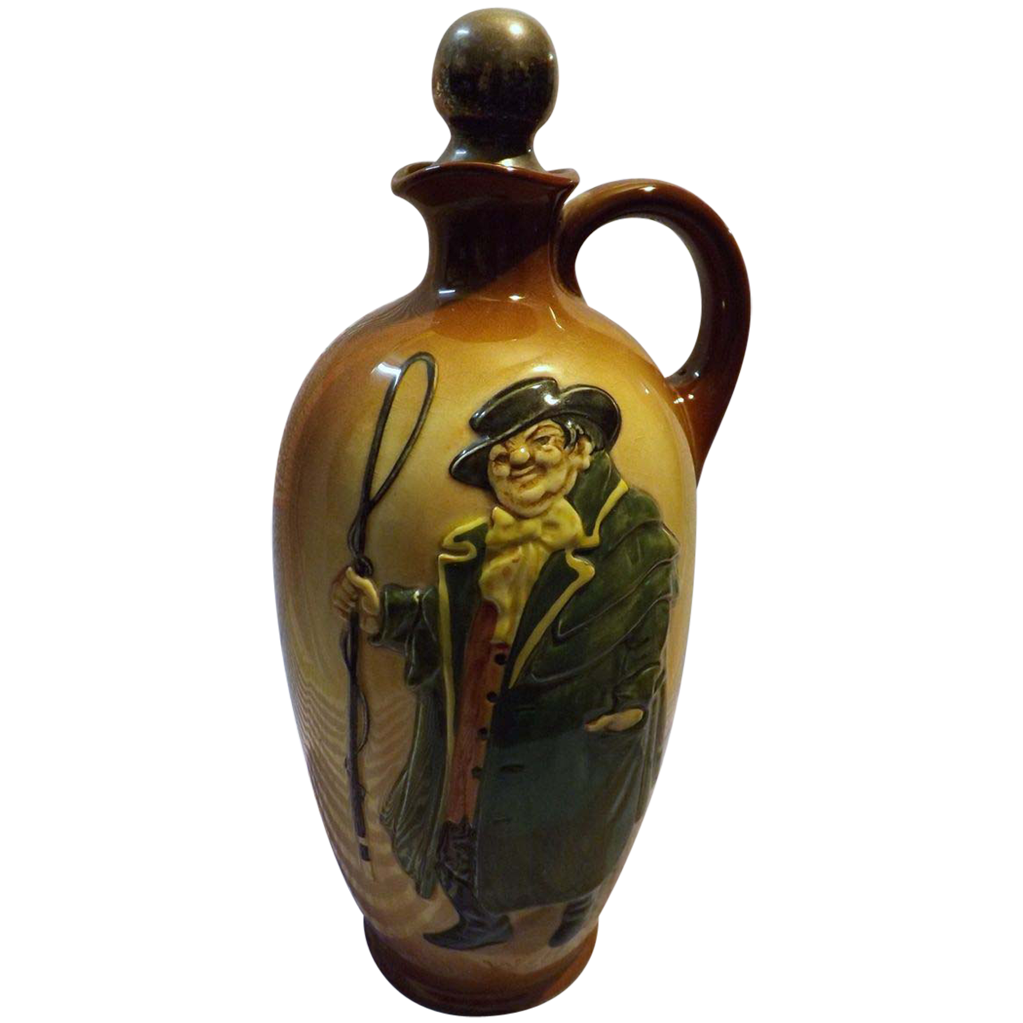 Royal Doulton Kingsware 'Tony Weller' Whisky Flask