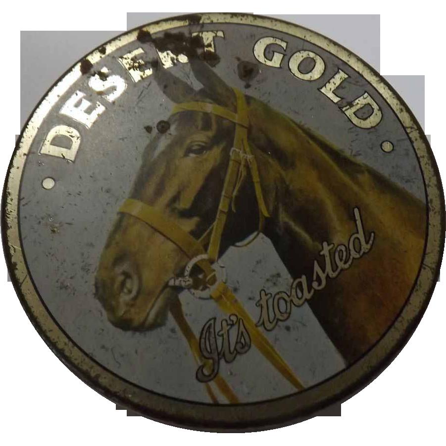 Tobacco Tin ' Dessert Gold' - New Zealand Circa 1920's