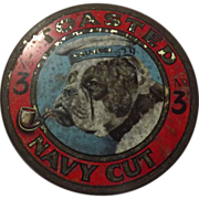 Tobacco Tin 'Toasted Navy Cut No 3' New Zealand Circa 1920's
