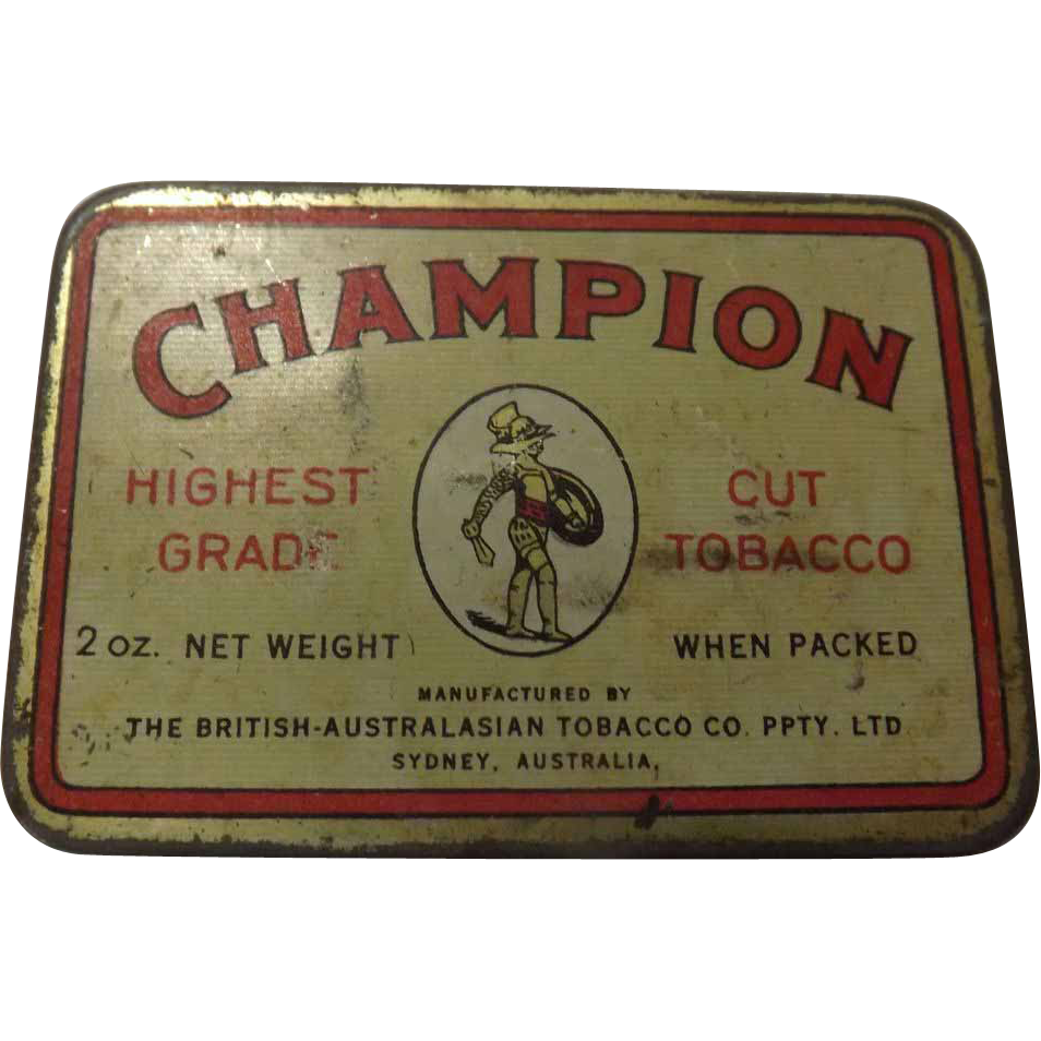 Tobacco Tin 'Champion' Cut Tobacco - Australia