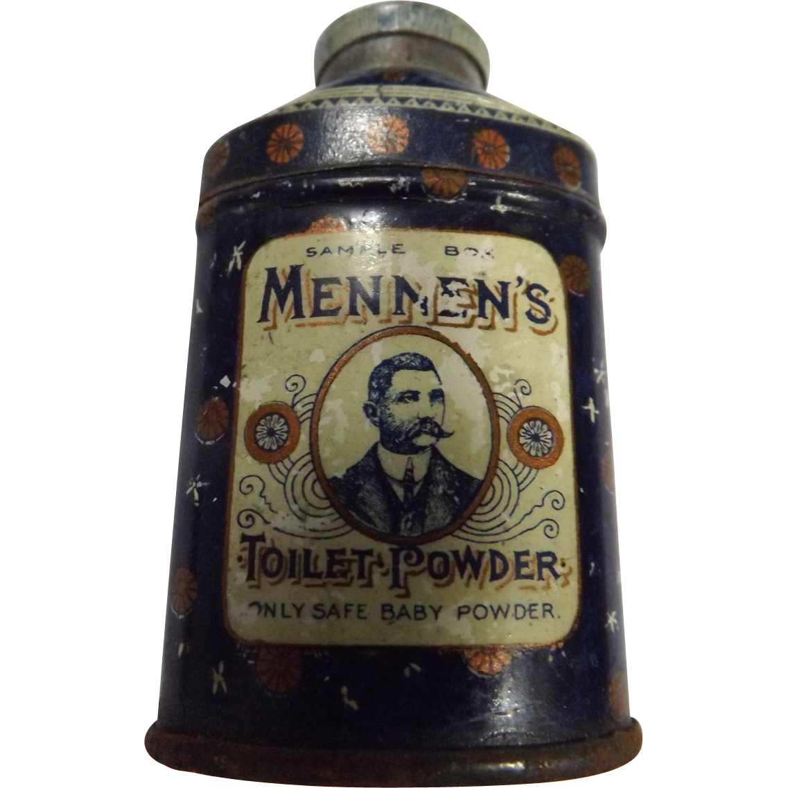 Mennen's Toilet Powder Full  Sample Tin -Circa 1910