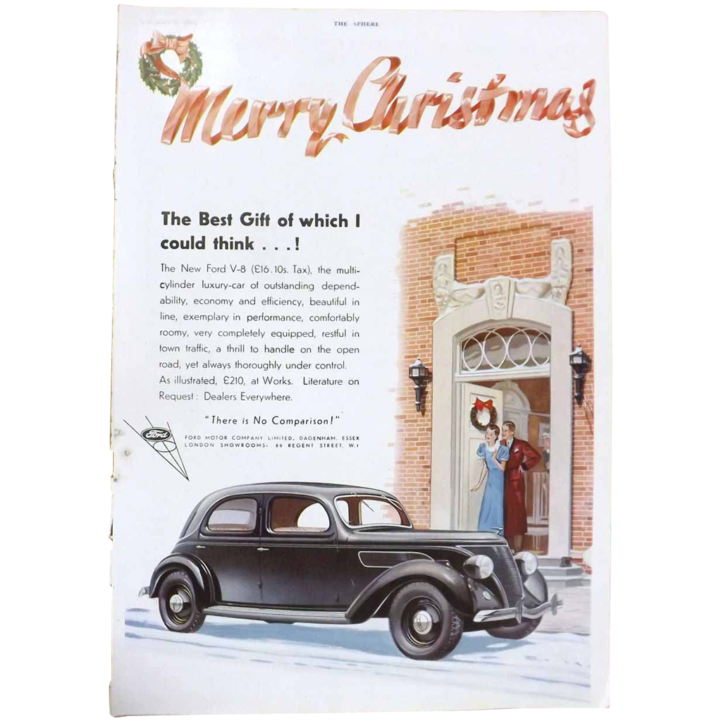 Art Deco 'FORD V-8' Advertisement  - The Sphere 1936