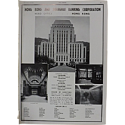 Art Deco 'Hong Kong & Shanghai Banking Corporation' Advertisement  - The Sphere 1936