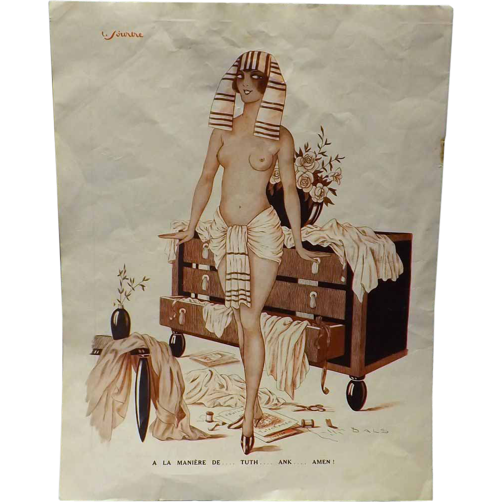 Risque French Cartoon -Le Sourire Magazine 1920's-1930's