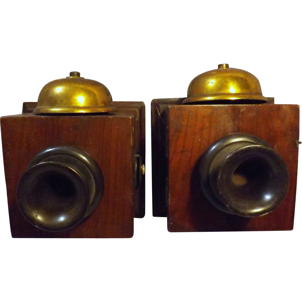 A Pair of Edwardian Period 'Servants Telephone' Fittings