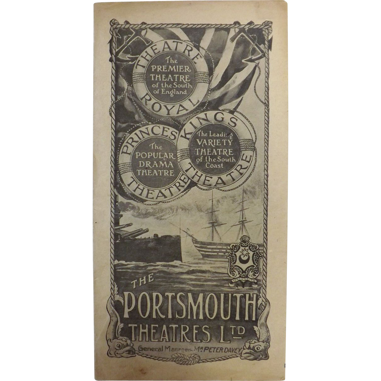 Theatre Programme 'The Portsmouth Theatres Ltd' - 1917