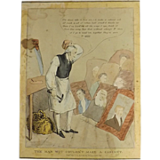 English Political Cartoon 1832 'The Man Wot Couldn't Make A Cabinet'