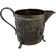 Indian Colonial Raj Period Sterling Silver Jug - Circa 1890