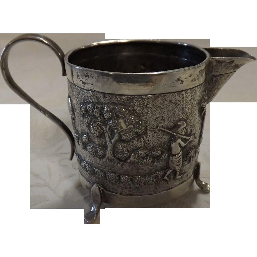 Indian Colonial Raj Period Sterling Silver Jug - Circa 1890