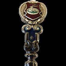 1907 DERBY Silver Souvenir Teaspoon