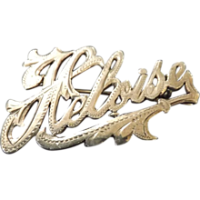 Silver Name Brooch 'Heloise'