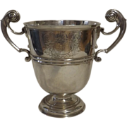HUGE George II Irish Sterling Silver Trophy Cup Circa 1730-1740