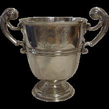 HUGE George II Irish Sterling Silver Trophy Cup Circa 1730-1740