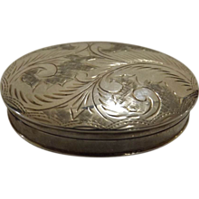 A Sterling Silver Pill Box