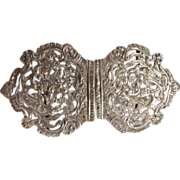 Victorian Sterling Silver Ladies Belt Buckle - 1895
