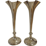 A Pair of Edwardian Sterling Silver Bud Vases - 1906