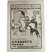 Original Cadbury's Cocoa Advertisement -The Sphere Nov.1900
