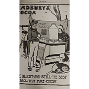 Original Cadbury's Cocoa Advertisement -The Sphere Oct.1900