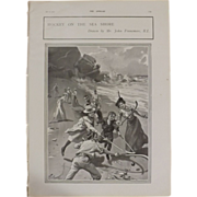 Original  Page 'Hockey On The Sea Shore' - The Sphere  JUL. 1901