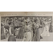 Original  Double Page 'Women As Archers' - The Sphere Jul. 1901