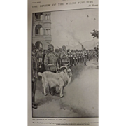 Original  Page 'The Review Of The Welsh Fusiliers At Hong Kong' - The Sphere Dec.1900