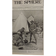 Original  Page Boer War 'Christmas On The Veldt' - The Sphere Dec.1900