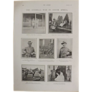 Original page Boer War 'The Guerilla War In South Africa'  - The Sphere Dec. 1900