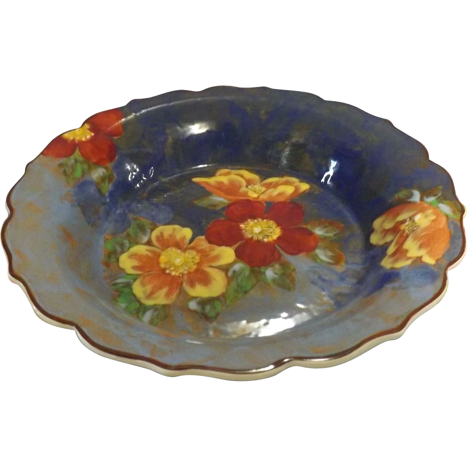 Royal Doulton 'Wild Roses' Large Hand Painted Fruit Bowl