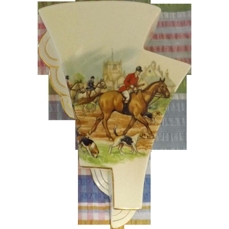 Royal winton wall vase hunt scene horse hounds sold ruby lane reviewsmspy