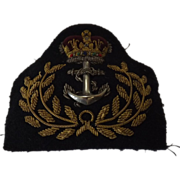 British Royal Navy Royal Fleet Auxiliary Warrant Officers Cap Insignia