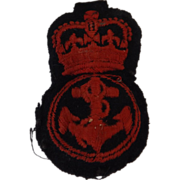 British Royal Navy  Cap Insignia - Petty Officer Engineer