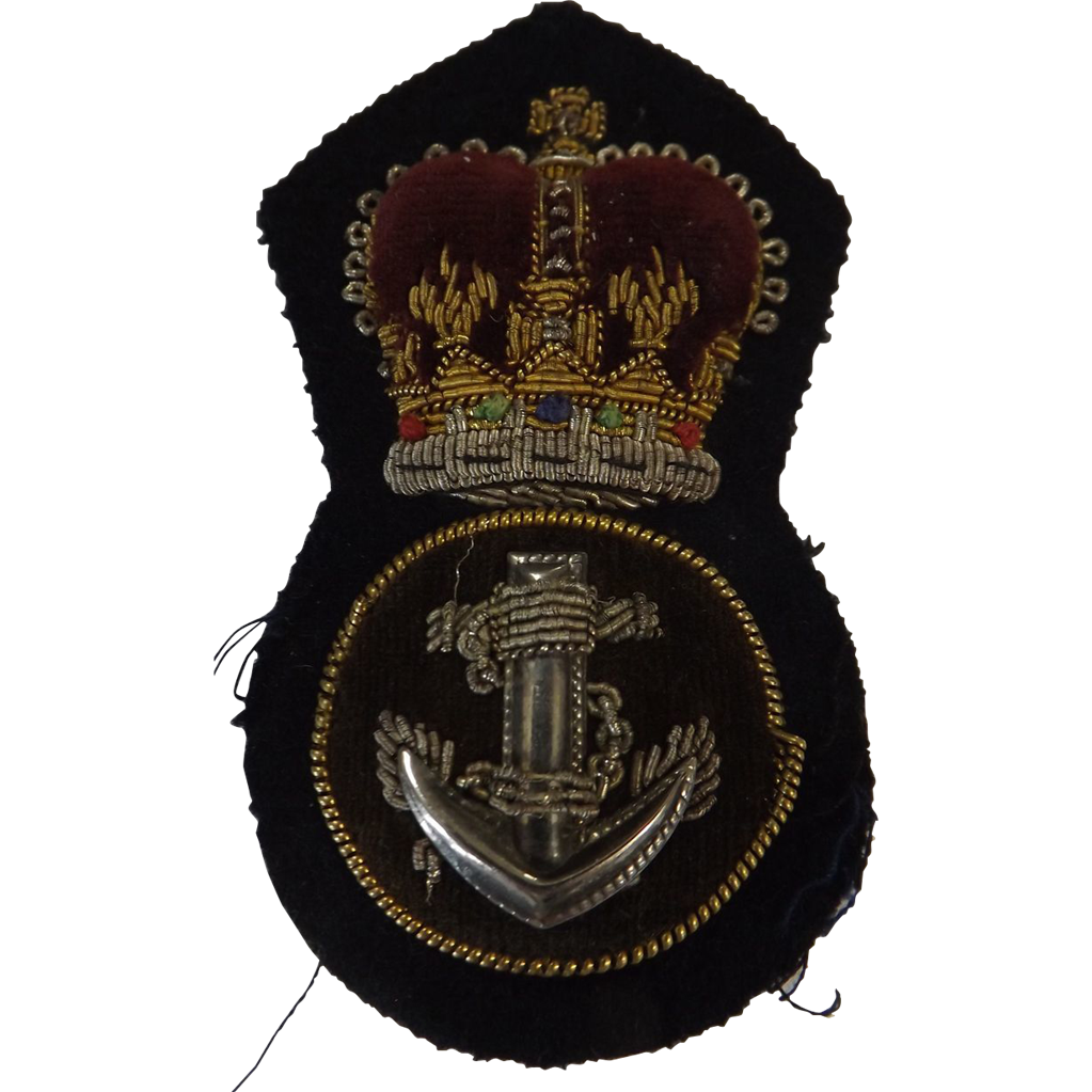 British Royal Navy  Cap Insignia - Petty Officer