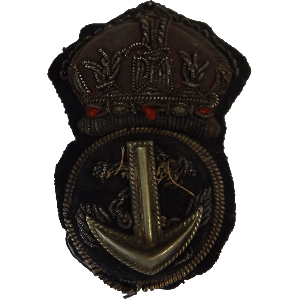 British Royal Navy  Cap Insignia - Petty Officer  'Kings Crown'