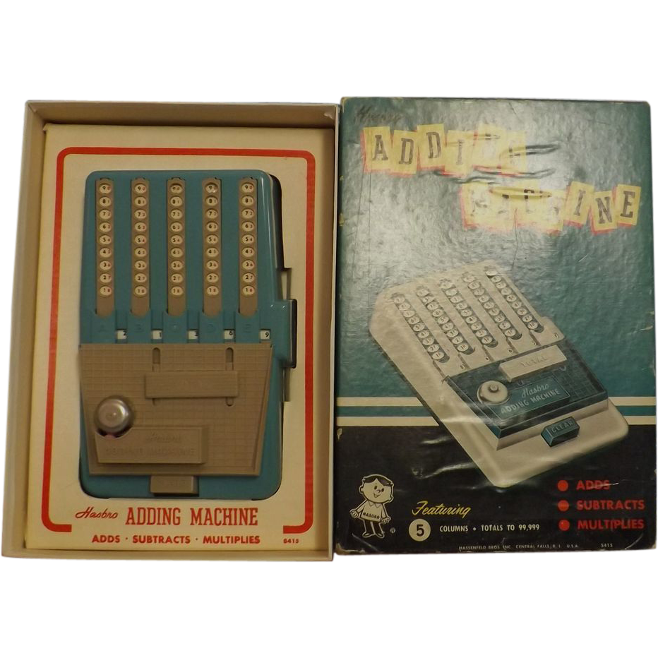 HASBRO Adding Machine-Boxed - 1960's