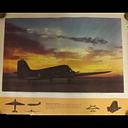 WW11 USA Original Propaganda Photographic Print - Douglas C- 47 Skytrain